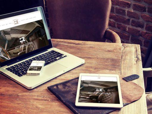 Создание сайта для автоателье Tiana