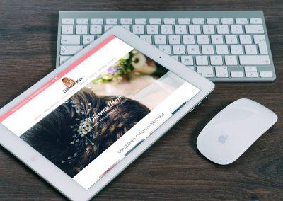 Создание сайта по женским уникальным украшениям для DiamantHair