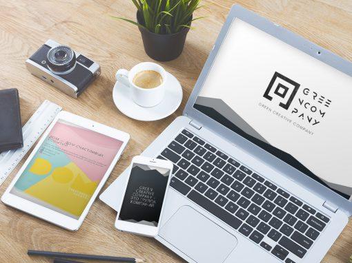 Создание сайта для группы компаний GREEN CREATIVE COMPANY